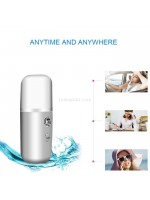 Nano Spray 88 Button On Off Facial Steamer Perawatan Wajah Mini Portable LED