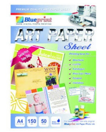 Blueprint sublimation paper a4 daftar update harga terbaru indonesia blueprint ap a4150 art paper sheet a4 malvernweather Image collections