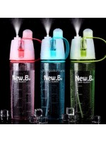 New B Botol Minum Semprot 600 ml - Sport Spray Water Bottle