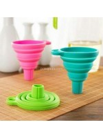 Corong Bulat Lipat Karet Silikon Collapsible Mini Funnel
