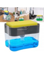 Tempat Dispenser Sabun Cuci Piring Soap Pump Sponge Caddy