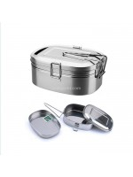 Lunch Box Stainless Steel 17 cm - Kotak Makan Stenlis