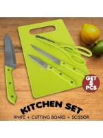 Kitchen Set Talenan Pisau Gunting 5 in 1
