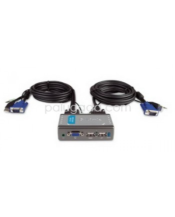 D-LINK  KVM-221/E : 2-Port USB KVM Switch with Audio Support