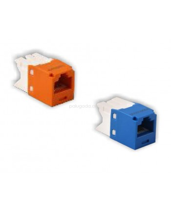 Netviel NVL-MJ-01-06: NETVIEL CAT6 UTP Modular Jack fits to NETVIEL ANGLED Face Plate ( BLUE Color )
