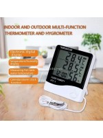 HTC-2 Jam Thermometer Hygrometer Digital Ruangan 3 Baris