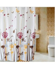 Tirai Kamar Mandi anti air Shower Curtain Bathroom motif waterproof