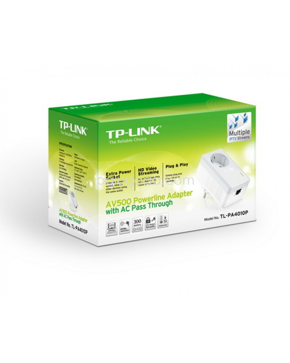 Tp Link Tl Pa4010pkit Av500 Powerline Adapter With Ac Pass Through Totolink Pl200kit 200mbps